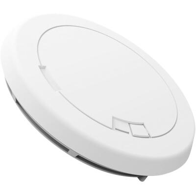 First Alert Battery Operated 9V Photoelectric Slim Round Smoke Alarm