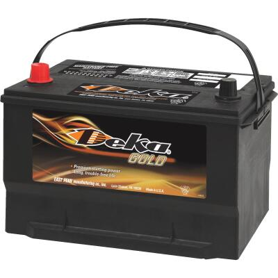 Deka Gold 12-Volt 850 CCA Automotive Battery, Top Post Left Front Positive Terminal