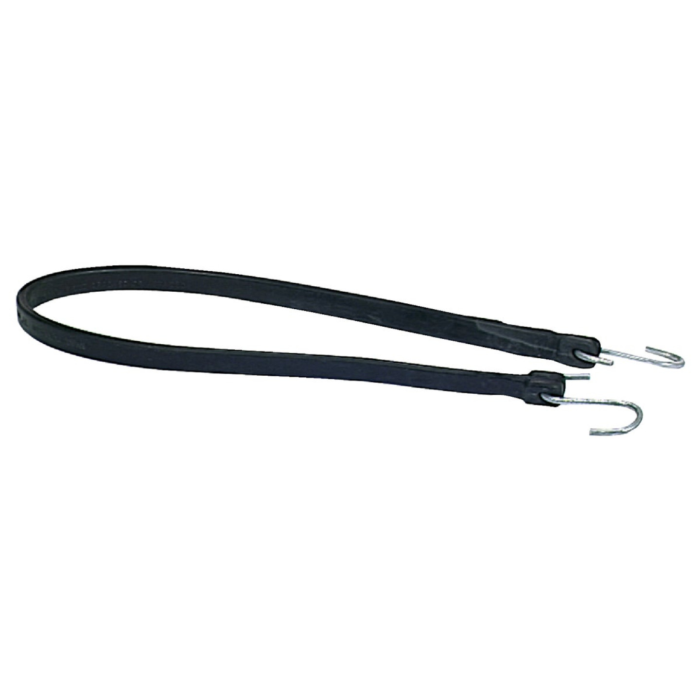 35.5 In. Hook-to-Hook Black Rubber Tarp Strap Image 1