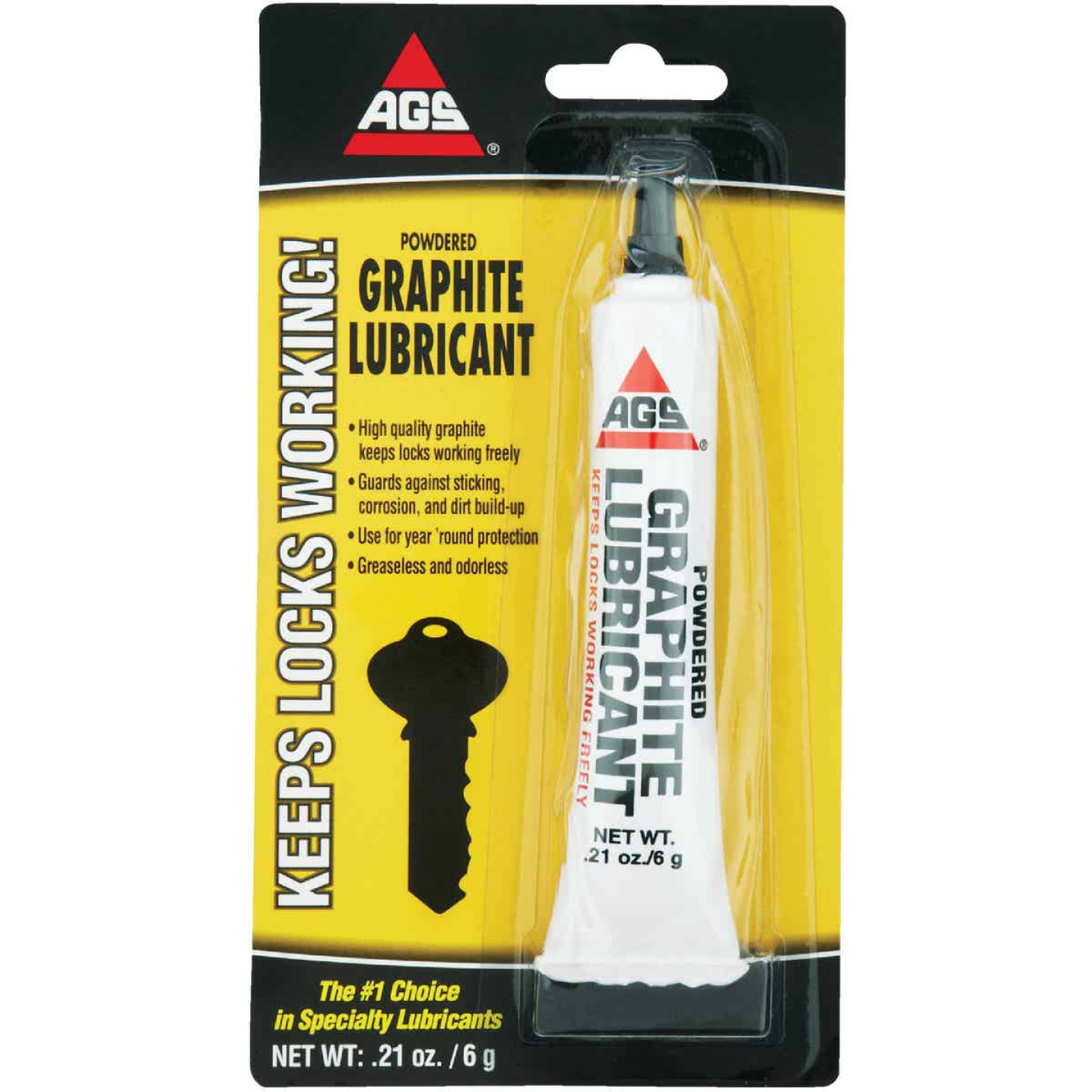 AGS 0.21 Oz. Tube Powdered Graphite Dry Lubricant Image 1