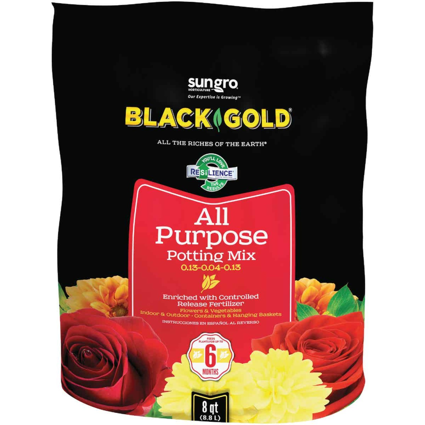 Black Gold 8 Qt. 6 Lb. All Purpose Potting Soil Image 1