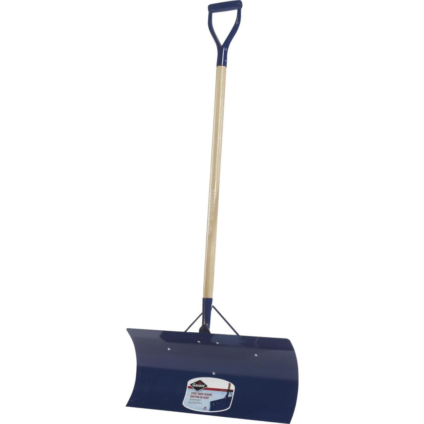 Garant Yukon 24 In. Steel Snow Pusher with 48 In. D-Grip Wood Handle Image 1