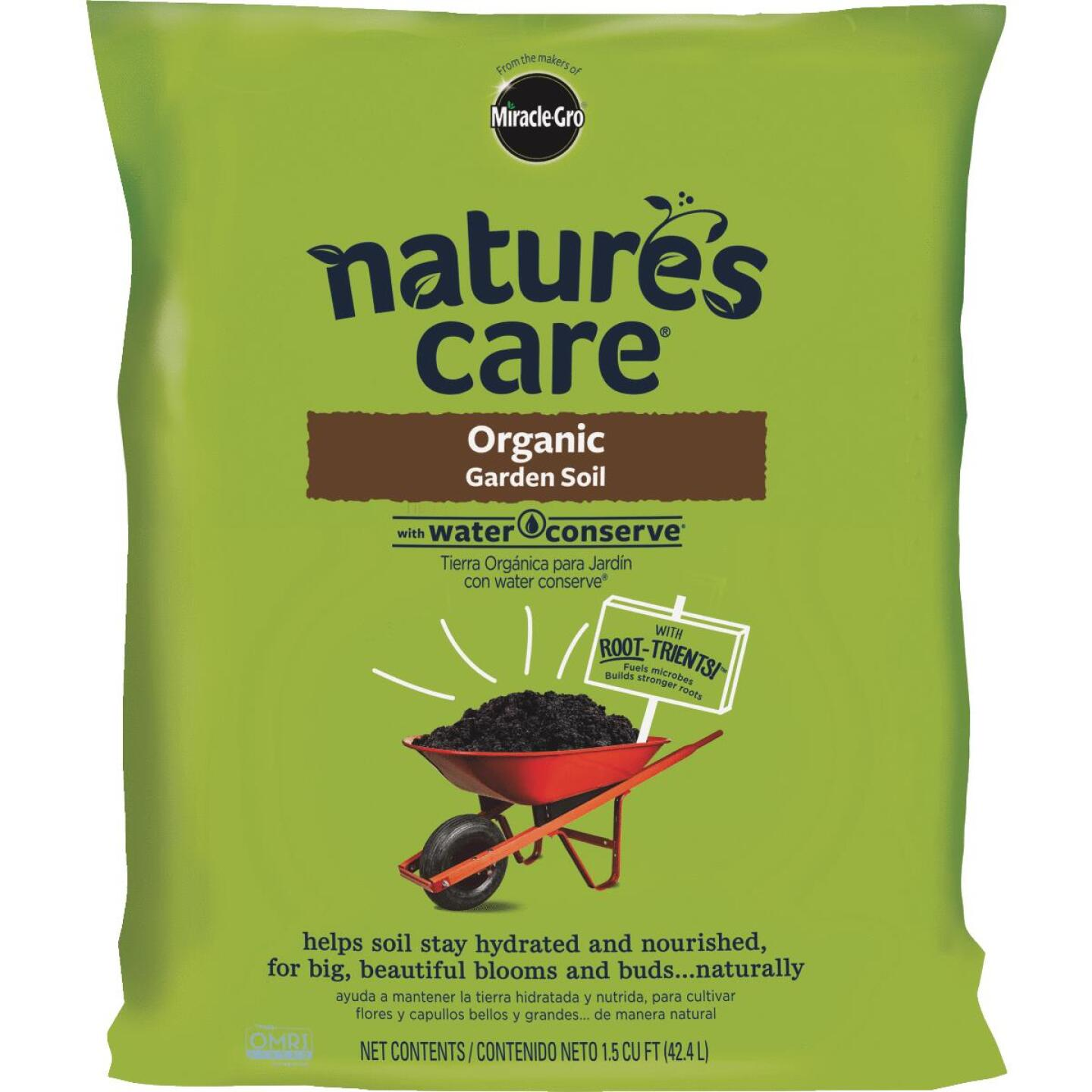 Miracle-Gro Nature's Care 1.5 Cu. Ft. 49 Lb. All Purpose Organic Garden Soil Image 1