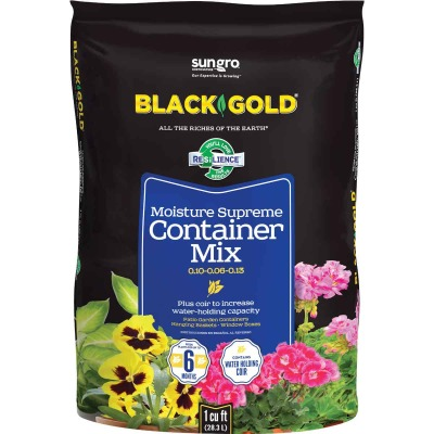 Black Gold Moisture Supreme 1 Cu. Ft. 19 Lb. Container Plants Potting Soil