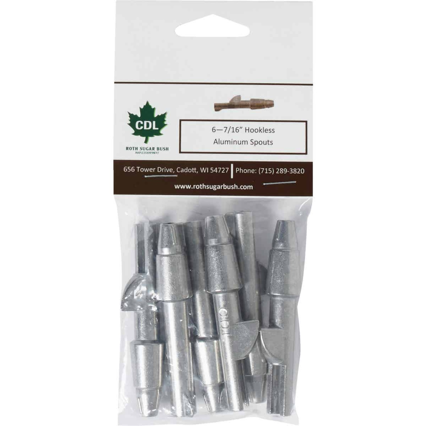 Tap My Trees Maple Sugaring Hookless Aluminum Spout (6-Pack) Image 2