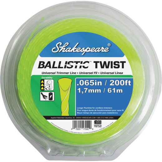 Shakespeare 0.065 In. x 200 Ft. Ballistic Twist Universal Trimmer Line