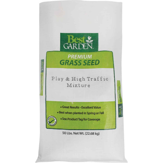 Best Garden 50 Lb. 15,000 Sq. Ft. Coverage High Traffic Grass Seed