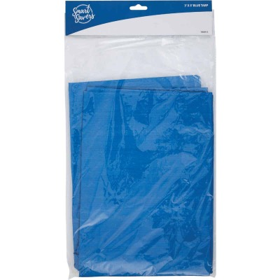 Smart Savers Blue PE 3 Ft. x 5 Ft. Poly Tarp