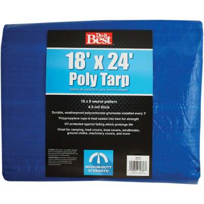 Do it Best Blue Woven 18 Ft. x 24 Ft. Medium Duty Poly Tarp