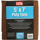 Do it Best 1 Side Green/1 Side Brown Woven 5 Ft. x 7 Ft. Medium Duty Poly Tarp Image 2