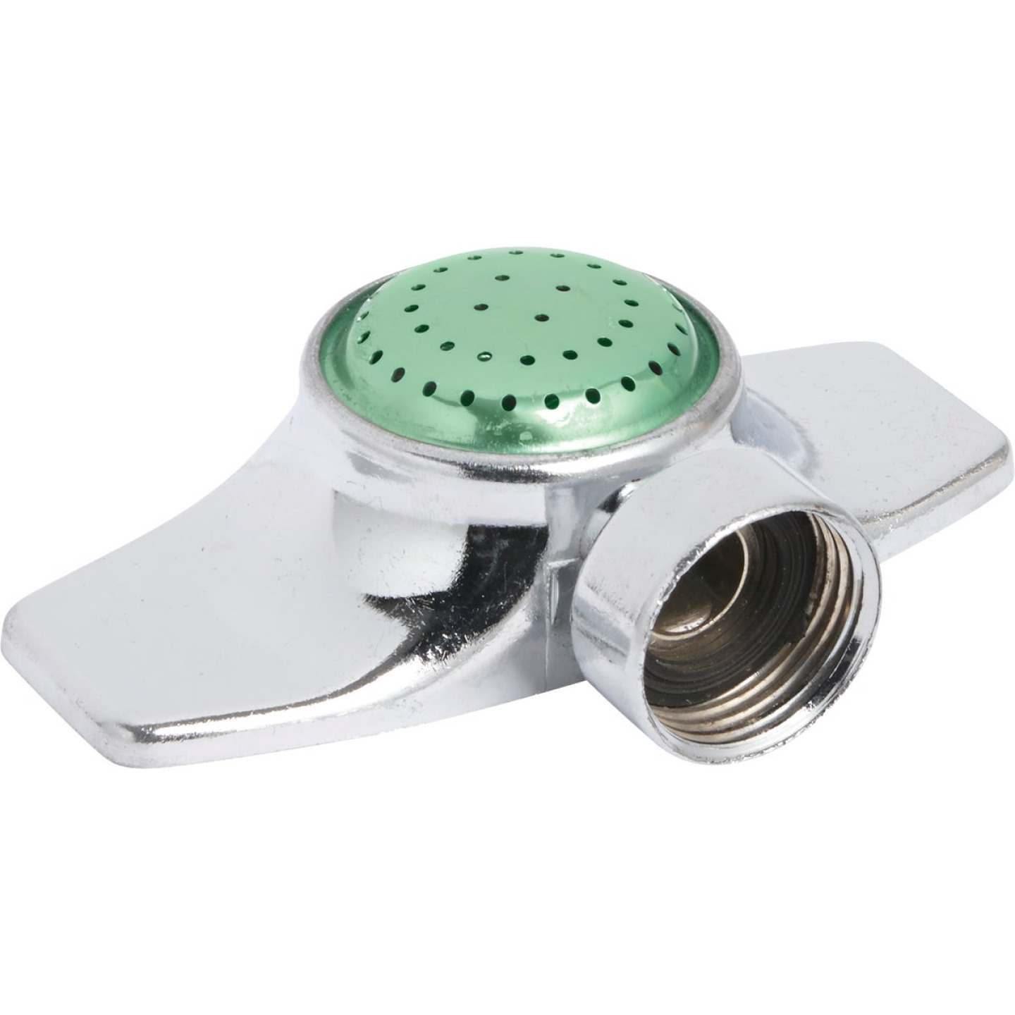 Best Garden Metal 30 Ft. Dia. Spot Stationary Sprinkler, Metallic & Green Image 1