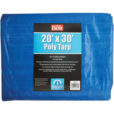Do it Best Blue Woven 20 Ft. x 30 Ft. Medium Duty Poly Tarp
