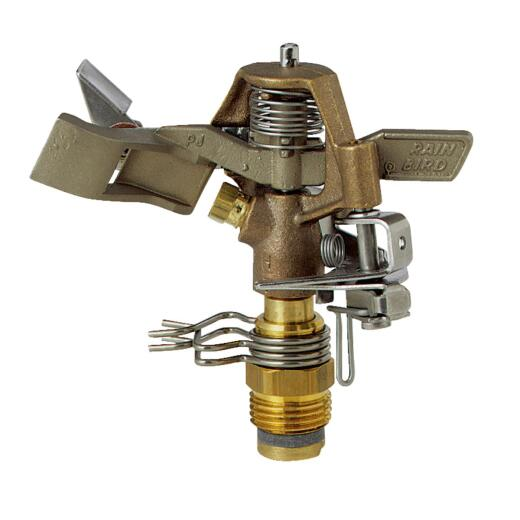 Rain Bird Brass 20 Ft. to 41 Ft. Dia. Riser Mounted Impact Sprinkler