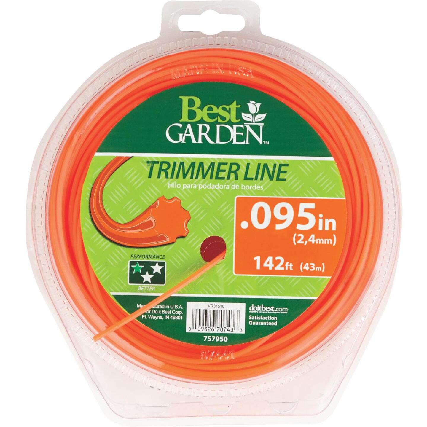 Best Garden 0.095 In. x 142 Ft. 7-Point Trimmer Line Image 1