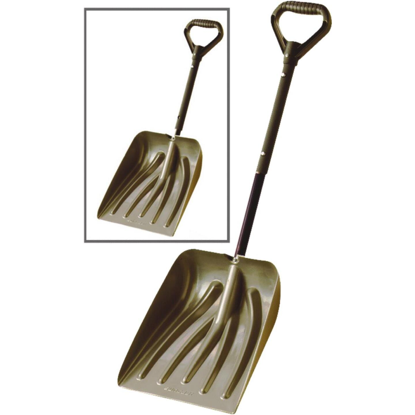 Suncast 11 In. Graphite Emergency Automotive Snow Shovel with 36 In. Steel Telescoping Handle Image 1