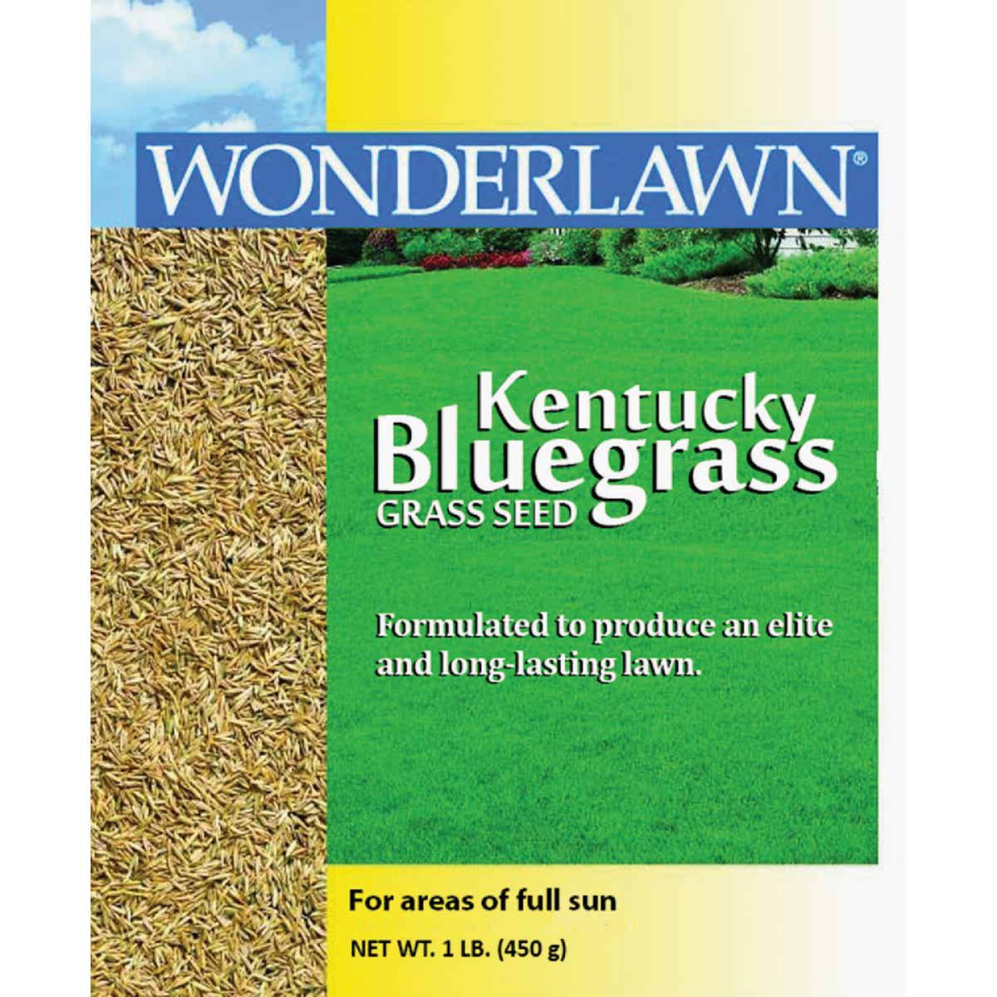 Wonderlawn 1 Lb. 500 Sq. Ft. Coverage Kentucky Bluegrass Grass Seed Image 1