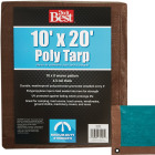 Do it Best 1 Side Green/1 Side Brown Woven 10 Ft. x 20 Ft. Medium Duty Poly Tarp Image 1