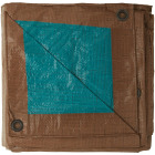 Do it Best 1 Side Green/1 Side Brown Woven 10 Ft. x 20 Ft. Medium Duty Poly Tarp Image 3