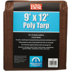 Do it Best 1 Side Green/1 Side Brown Woven 9 Ft. x 12 Ft. Medium Duty Poly Tarp Image 2