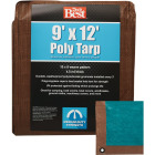 Do it Best 1 Side Green/1 Side Brown Woven 9 Ft. x 12 Ft. Medium Duty Poly Tarp Image 1