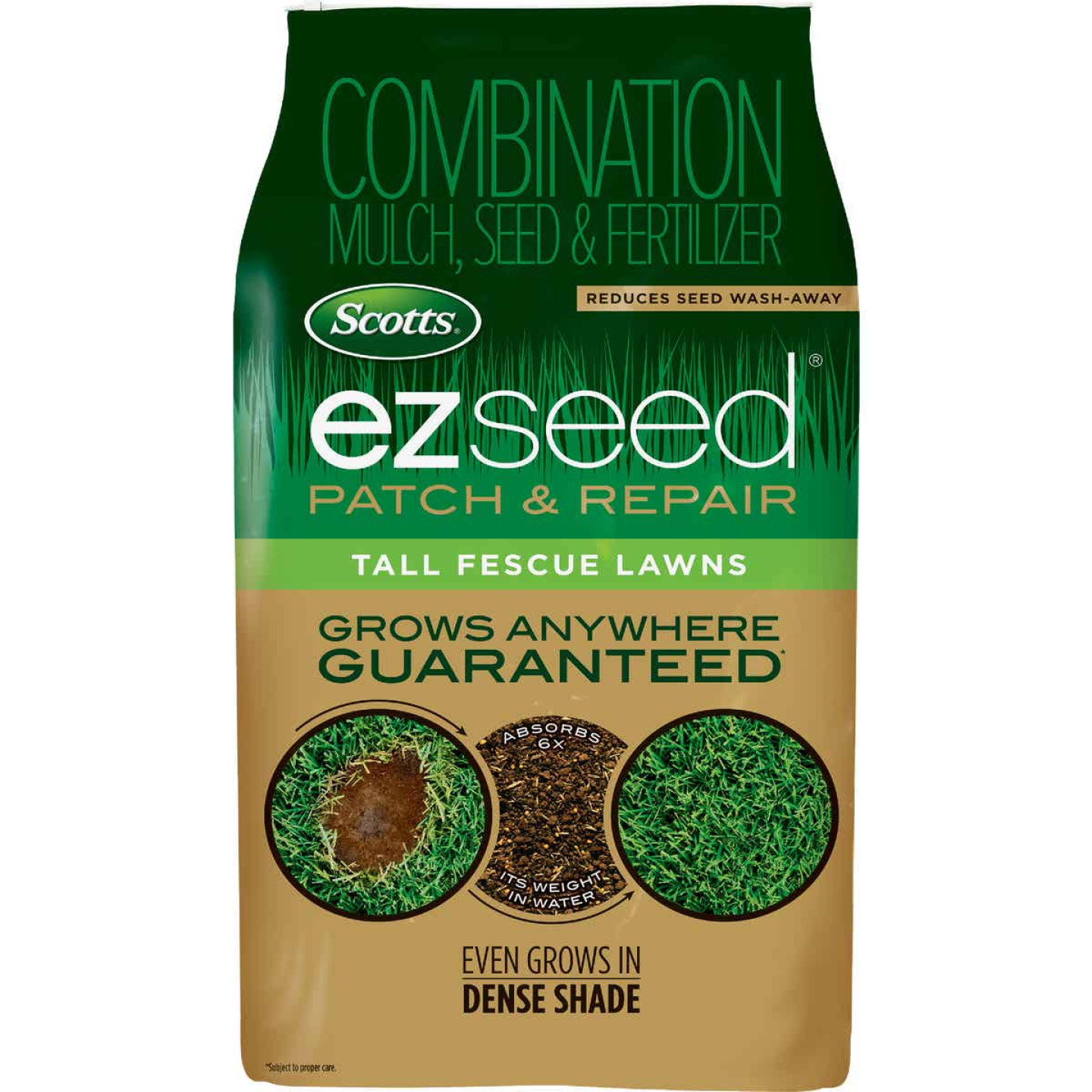 Scotts eZ Seed 10 Lb. 225 Sq. Ft. Coverage Tall Fescue Grass Patch & Repair Image 1