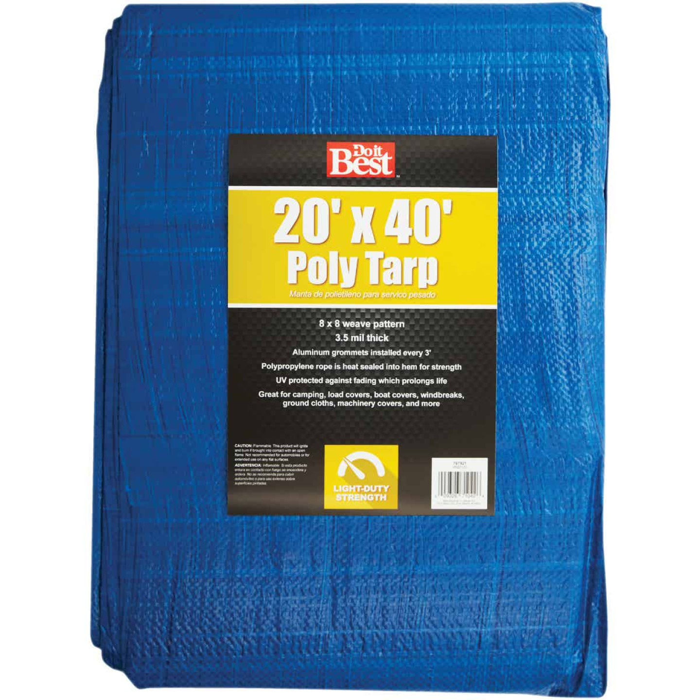 Do it Best Blue Woven 20 Ft. x 40 Ft. General Purpose Tarp Image 1