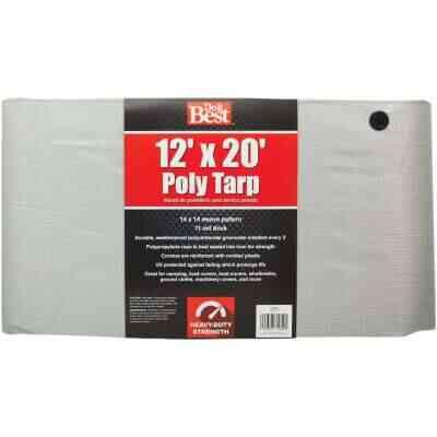 Do it Best Silver Woven 12 Ft. x 20 Ft. Heavy Duty Poly Tarp